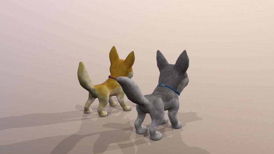 Dog Cartoon royalty-free 3d model - Preview no. 33