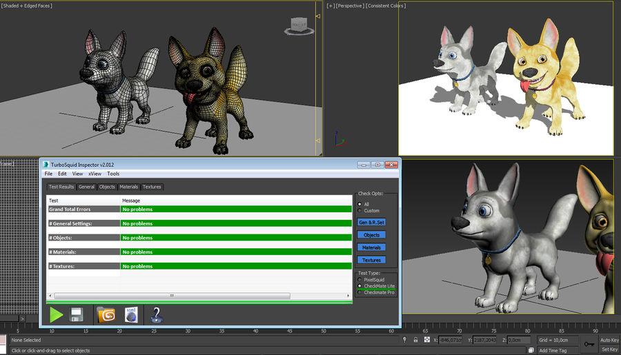 Dog Cartoon royalty-free 3d model - Preview no. 1