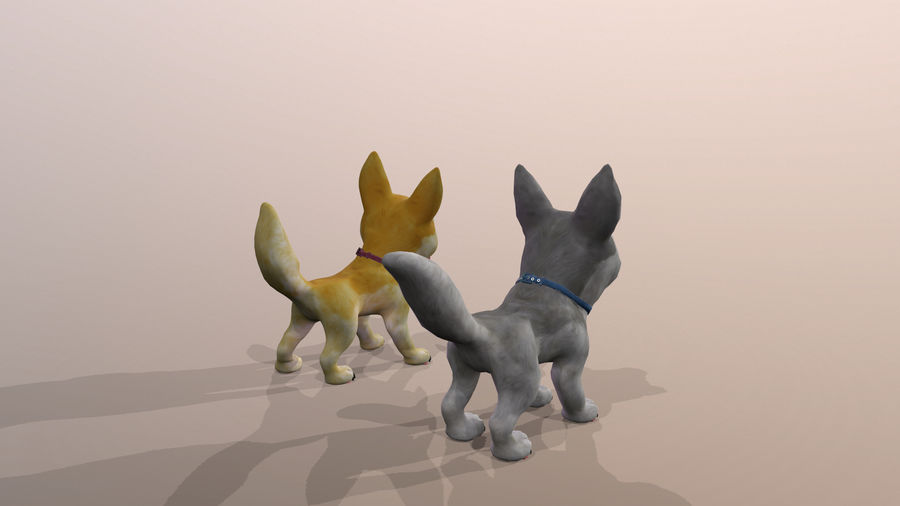 Dog Cartoon royalty-free 3d model - Preview no. 33