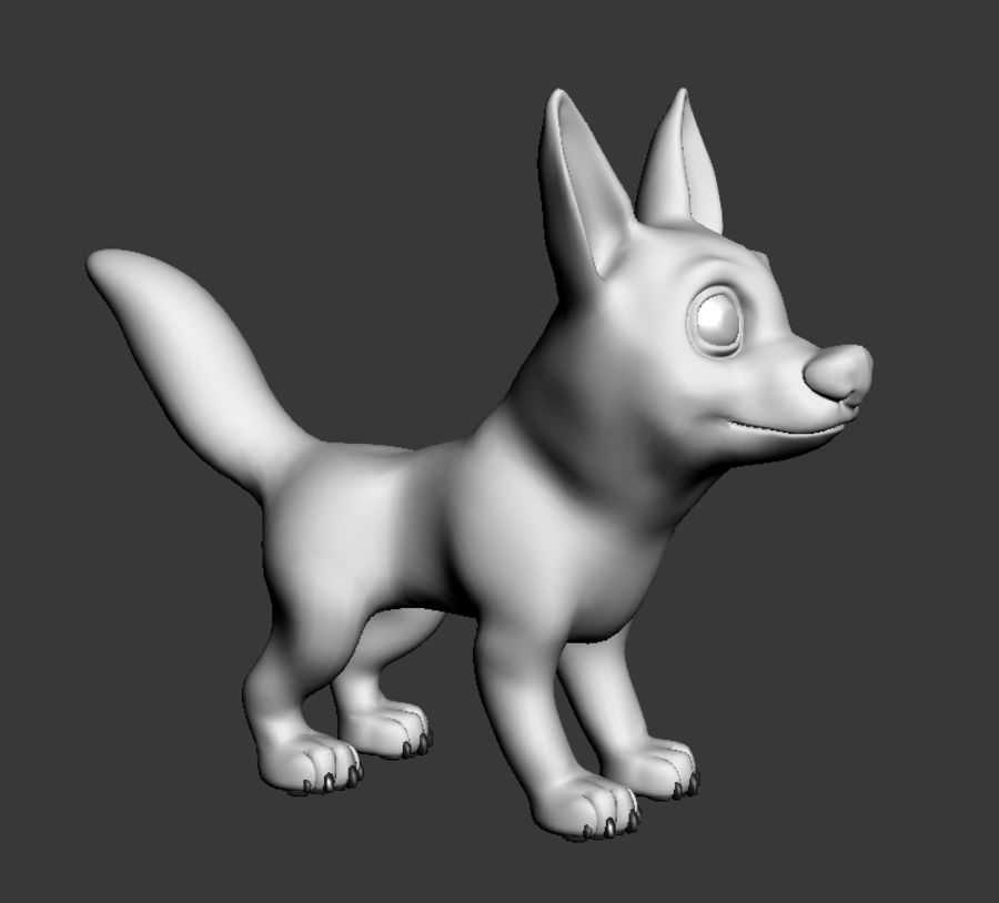 Dog Cartoon royalty-free 3d model - Preview no. 10