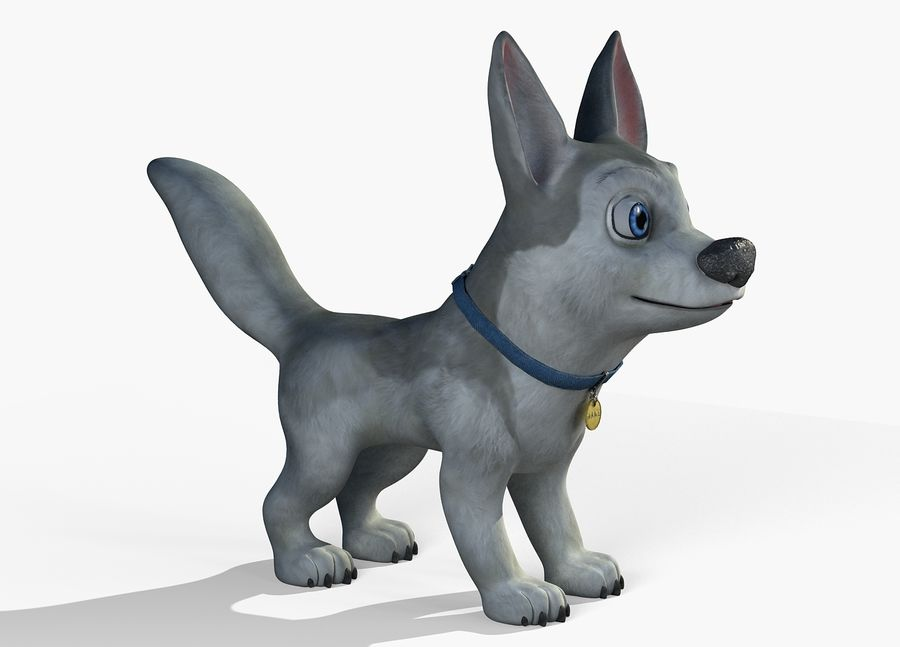 Dog Cartoon royalty-free 3d model - Preview no. 11