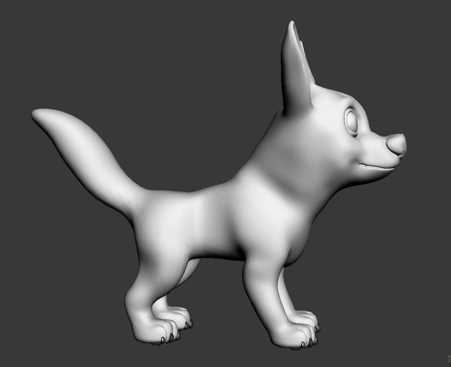 Dog Cartoon royalty-free 3d model - Preview no. 22