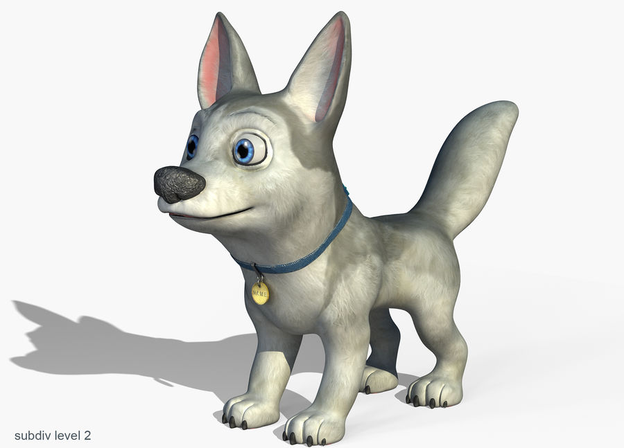 Dog Cartoon royalty-free 3d model - Preview no. 5
