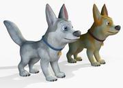 Мультфильм собака 3d model