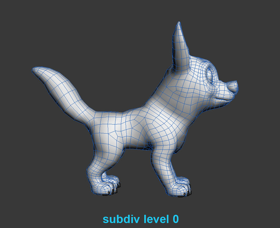 Dog Cartoon royalty-free 3d model - Preview no. 20