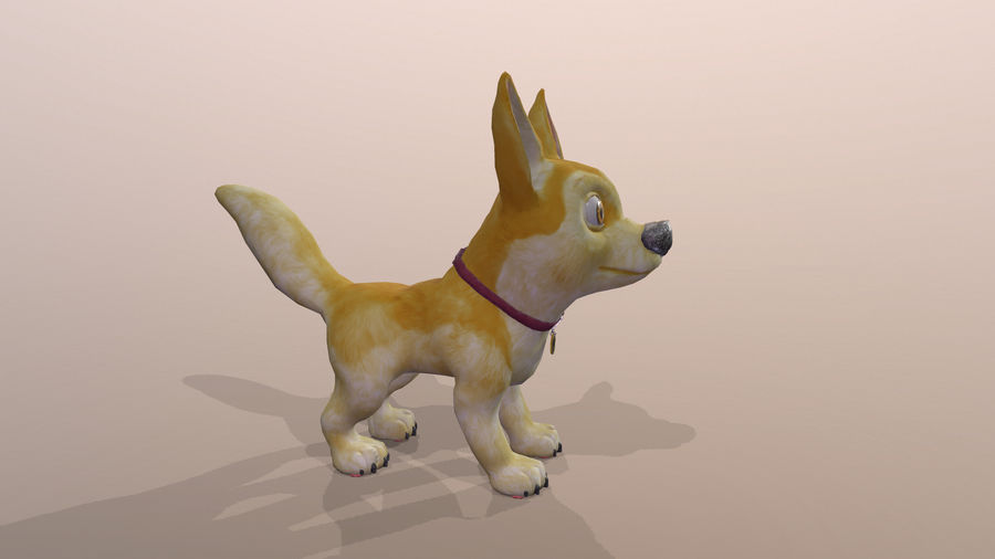 Dog Cartoon royalty-free 3d model - Preview no. 30