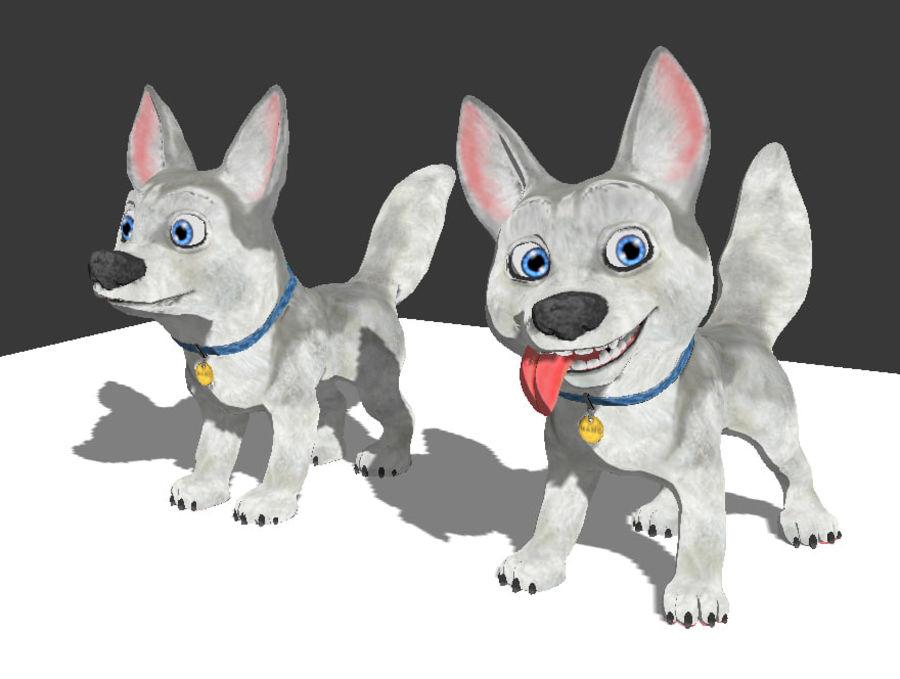 Dog Cartoon royalty-free 3d model - Preview no. 25