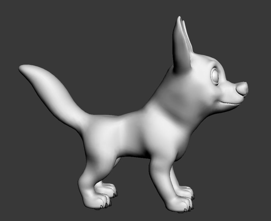 Dog Cartoon royalty-free 3d model - Preview no. 12