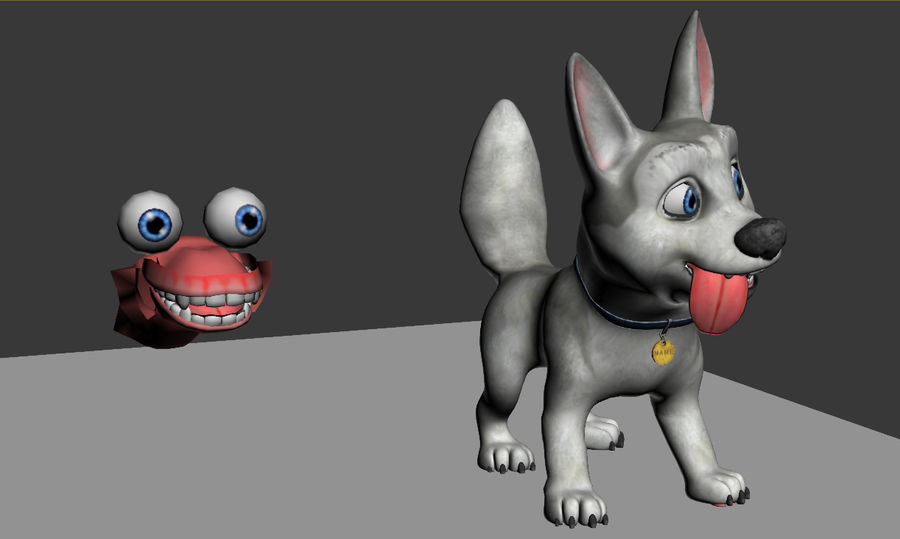Dog Cartoon royalty-free 3d model - Preview no. 18