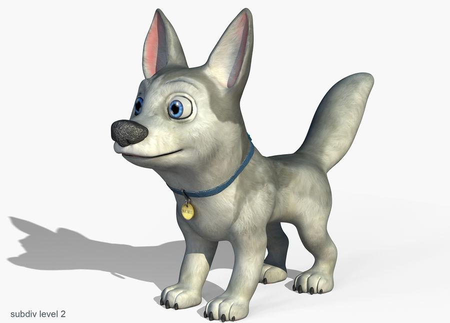 Dog Cartoon royalty-free 3d model - Preview no. 5