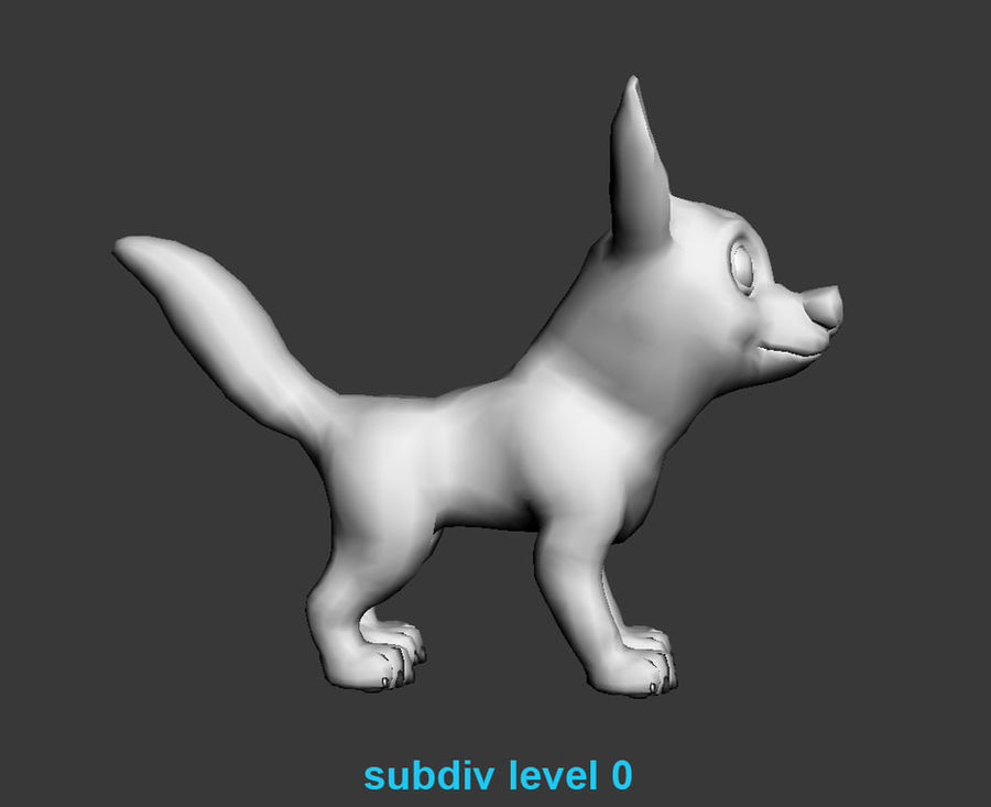 Dog Cartoon royalty-free 3d model - Preview no. 21