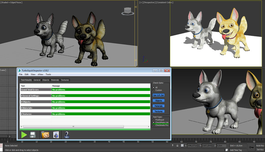 Dog Cartoon royalty-free 3d model - Preview no. 3