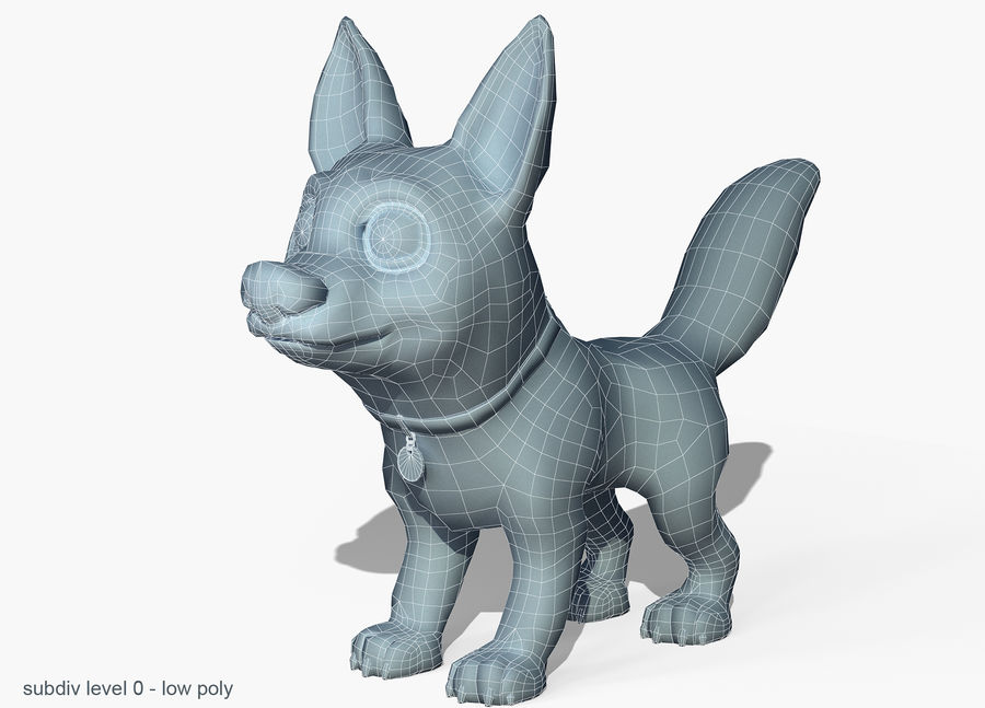 Dog Cartoon royalty-free 3d model - Preview no. 6