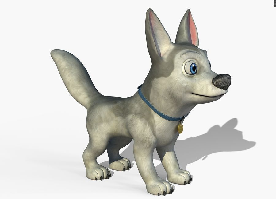 Dog Cartoon royalty-free 3d model - Preview no. 8