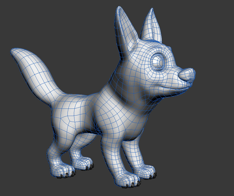 Dog Cartoon royalty-free 3d model - Preview no. 24