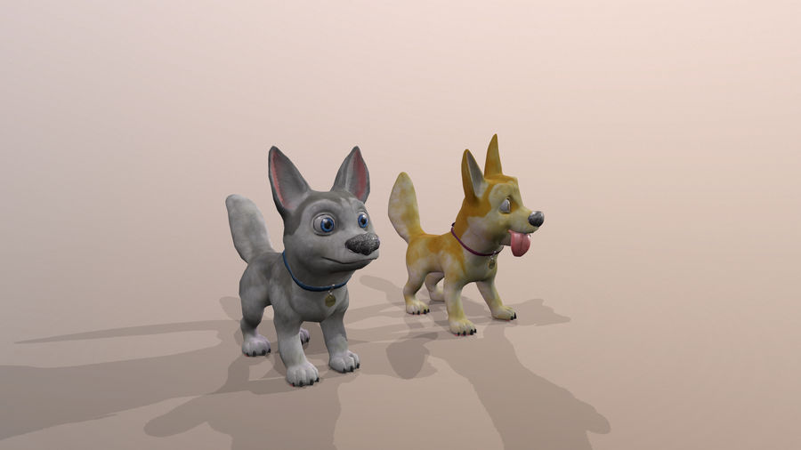 Dog Cartoon royalty-free 3d model - Preview no. 32