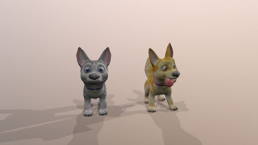 Dog Cartoon royalty-free 3d model - Preview no. 31