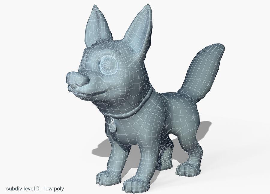 Dog Cartoon royalty-free 3d model - Preview no. 6