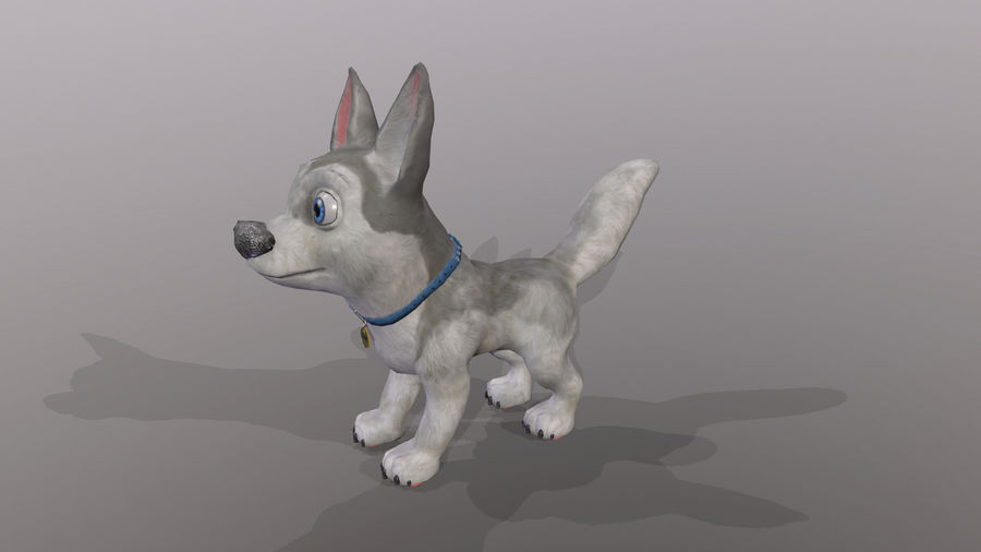 Dog Cartoon royalty-free 3d model - Preview no. 27