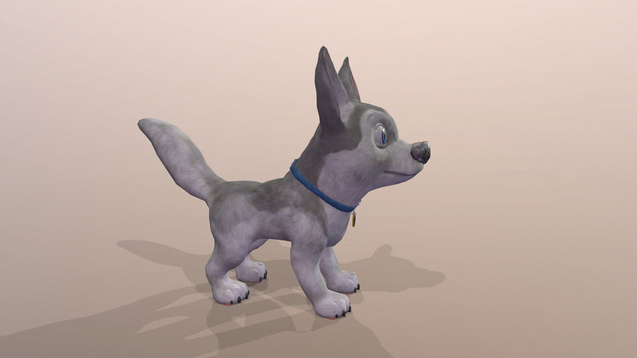 Dog Cartoon royalty-free 3d model - Preview no. 29