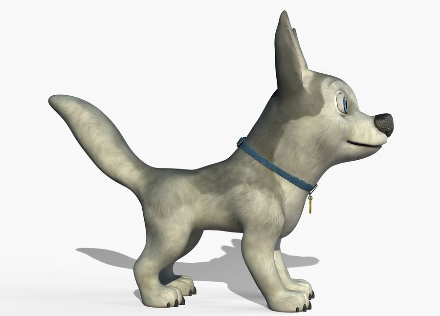 Dog Cartoon royalty-free 3d model - Preview no. 9