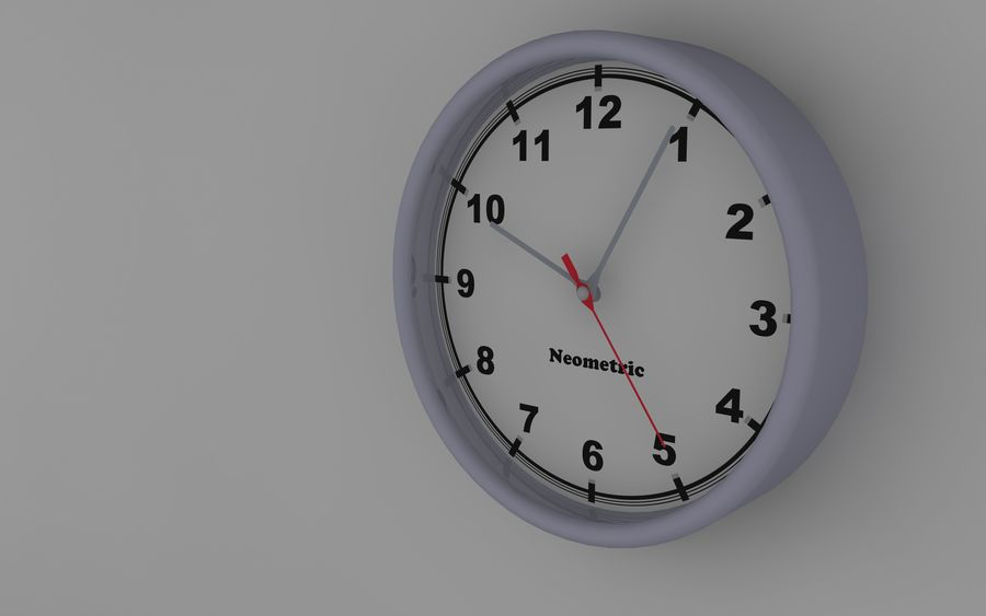 Orologio da parete royalty-free 3d model - Preview no. 6