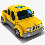 Cartoon Pickup Truck 2 3d model
