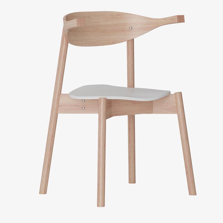 Ikea BOJNE chair royalty-free 3d model - Preview no. 3