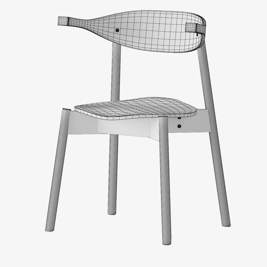 Ikea BOJNE chair royalty-free 3d model - Preview no. 5