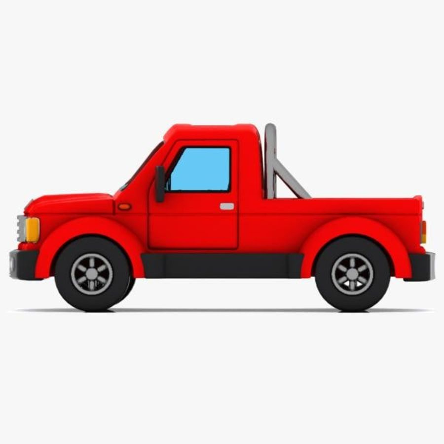 Cartoon Pickup Truck 3 royalty-free 3d model - Preview no. 5