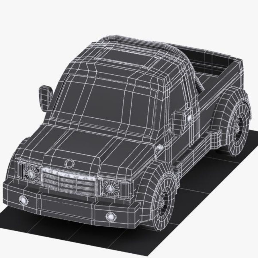 Cartoon Pickup Truck 3 royalty-free 3d model - Preview no. 12
