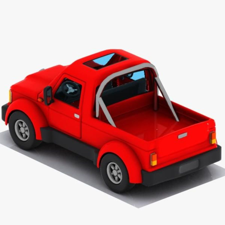 Cartoon Pickup Truck 3 royalty-free 3d model - Preview no. 6