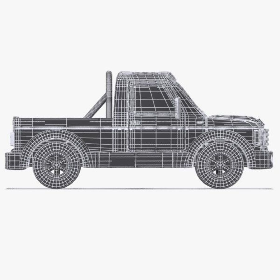 Cartoon Pickup Truck 3 royalty-free 3d model - Preview no. 10