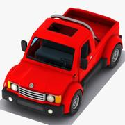 만화 픽업 트럭 3 3d model