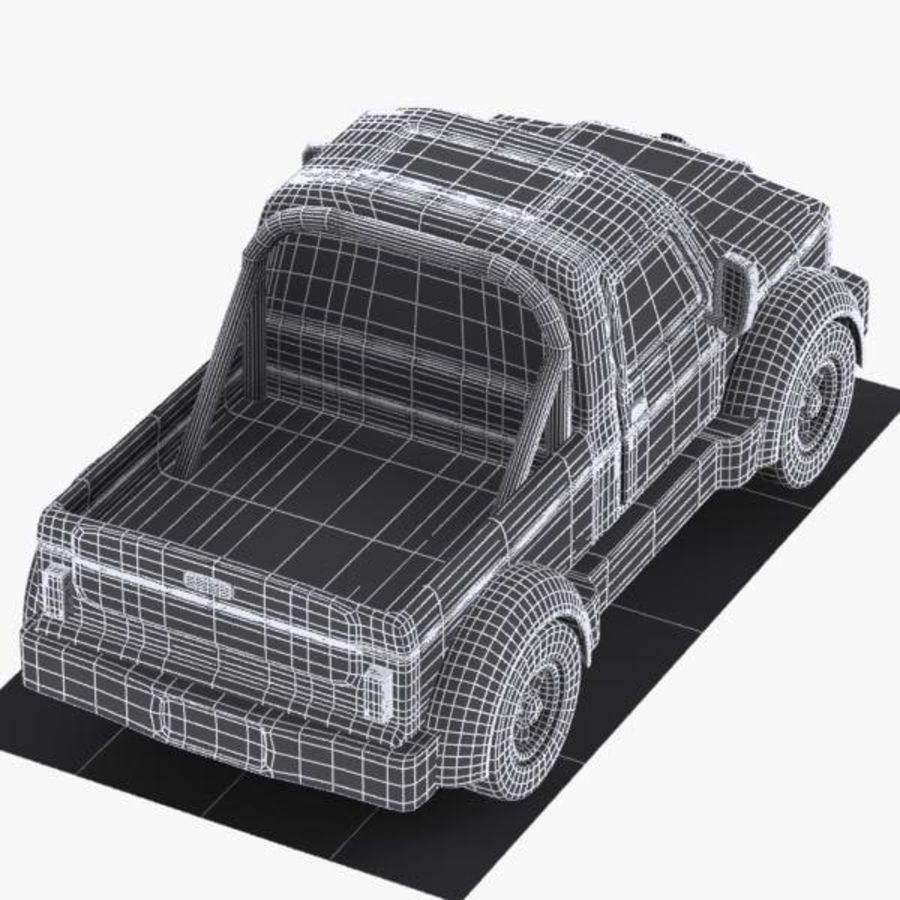 Cartoon Pickup Truck 3 royalty-free 3d model - Preview no. 11