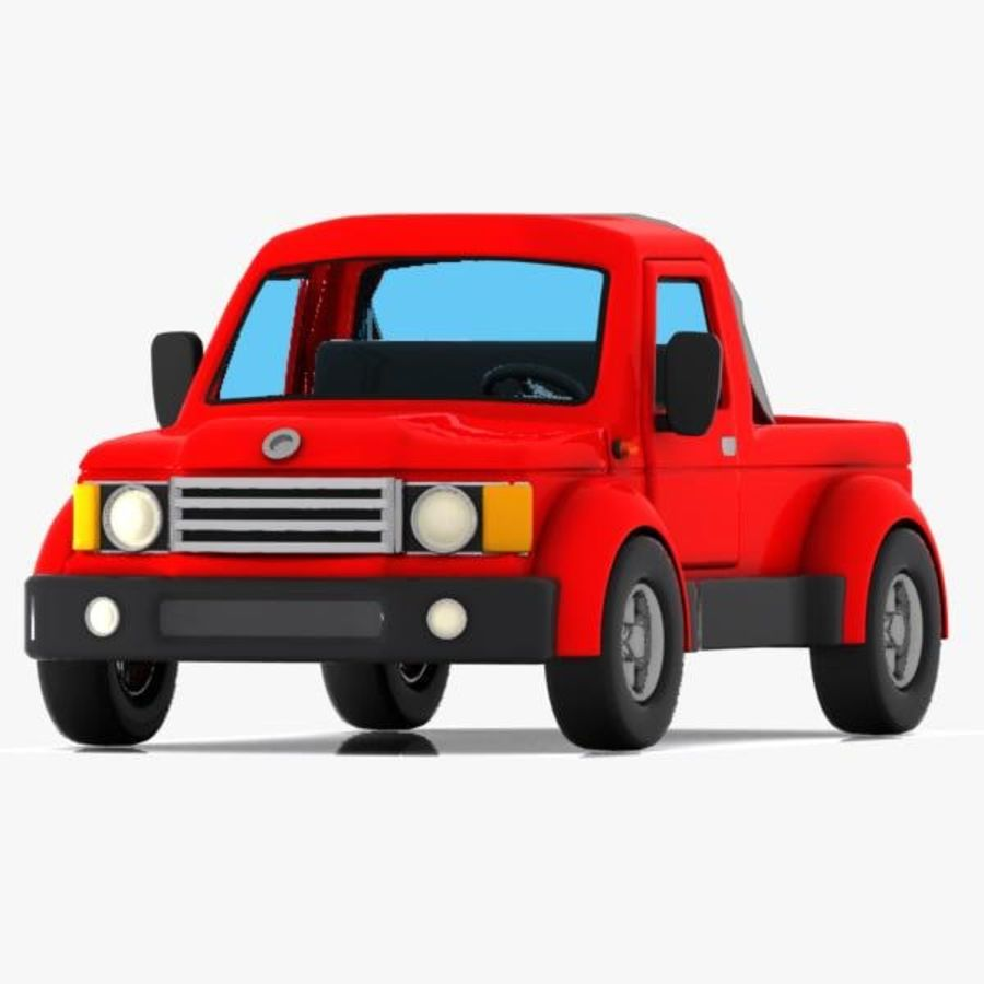 Cartoon Pickup Truck 3 royalty-free 3d model - Preview no. 4