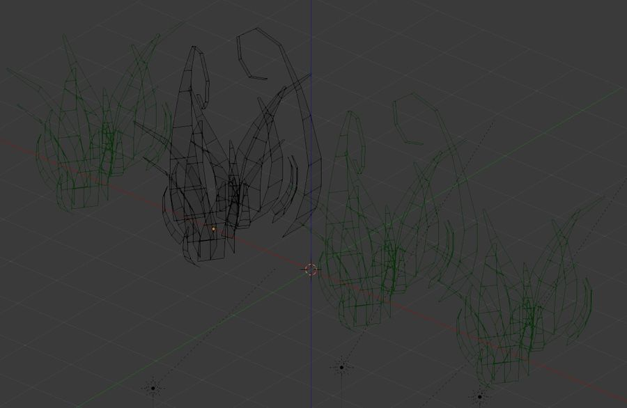 Grass Clumps Pack royalty-free 3d model - Preview no. 4