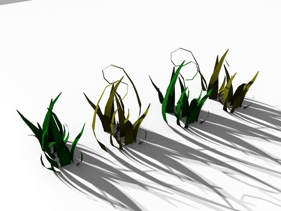 Grass Clumps Pack royalty-free 3d model - Preview no. 5