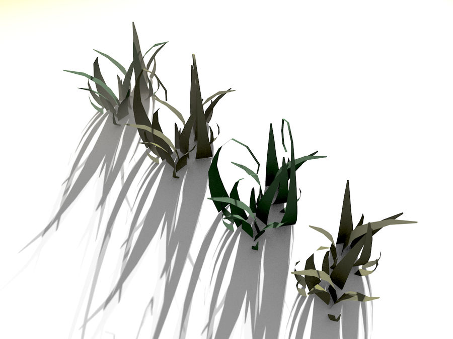 Grass Clumps Pack royalty-free 3d model - Preview no. 2