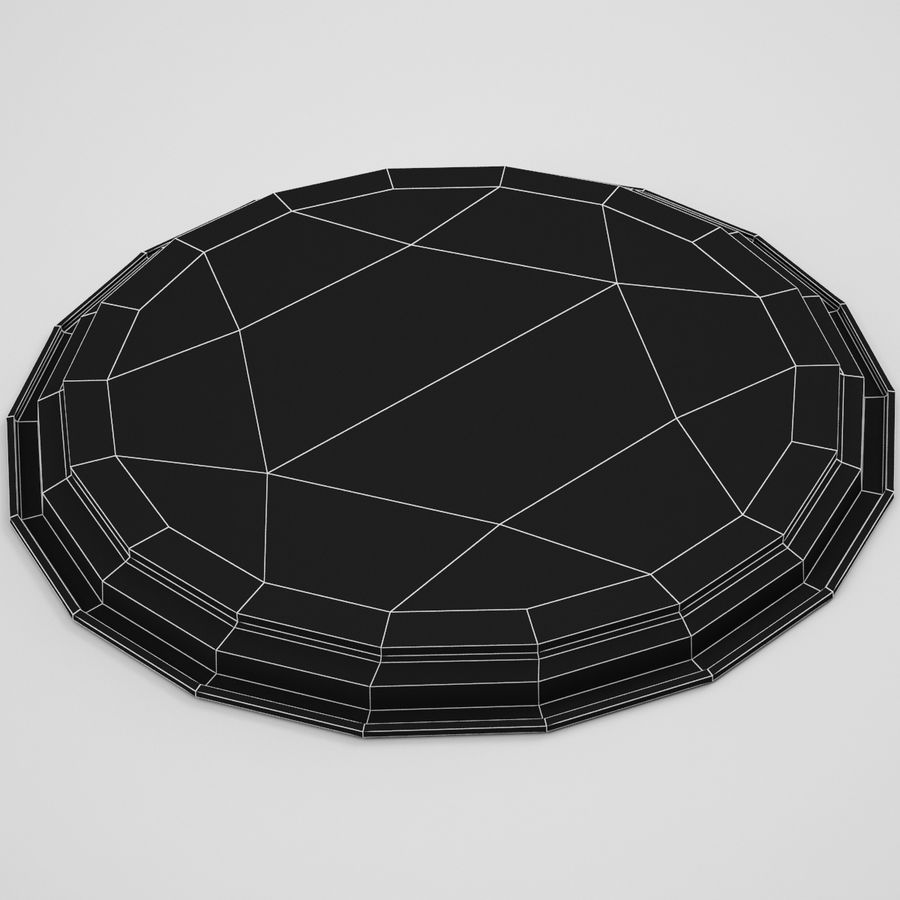 Round Tray royalty-free 3d model - Preview no. 9