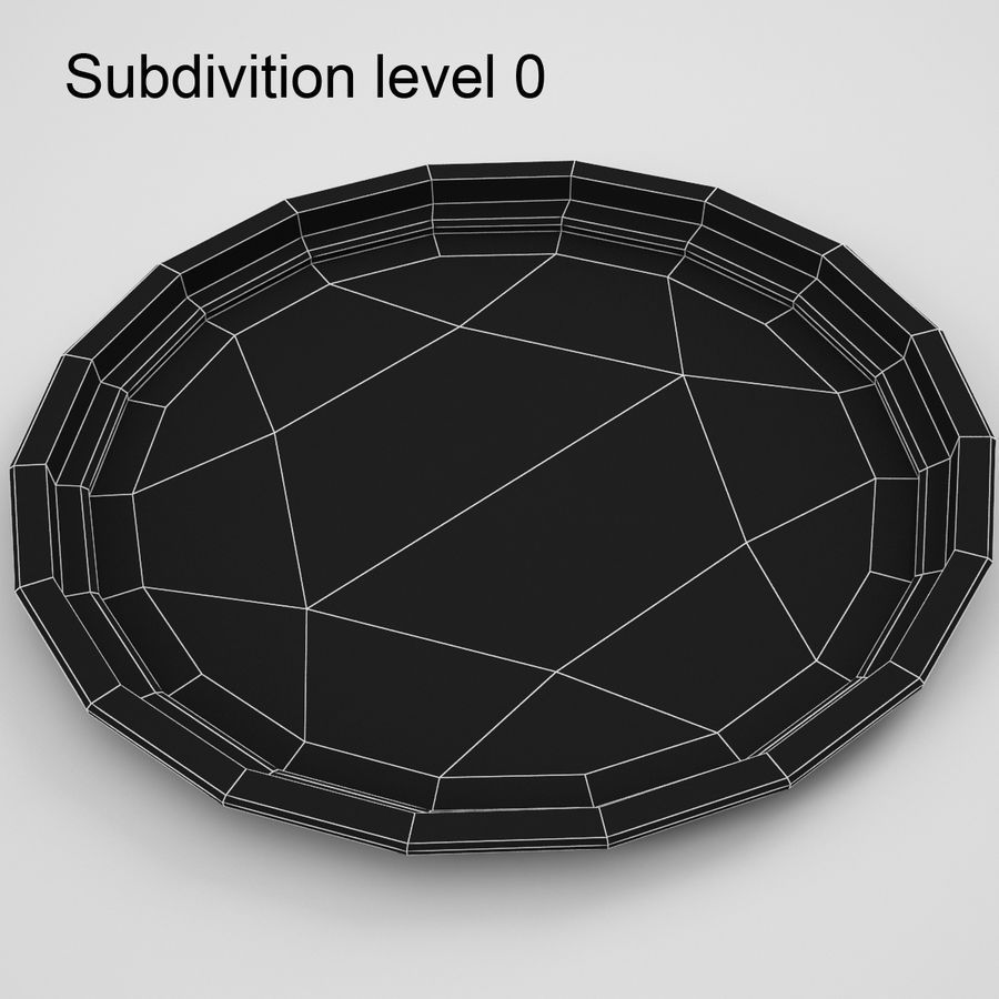 Round Tray royalty-free 3d model - Preview no. 6