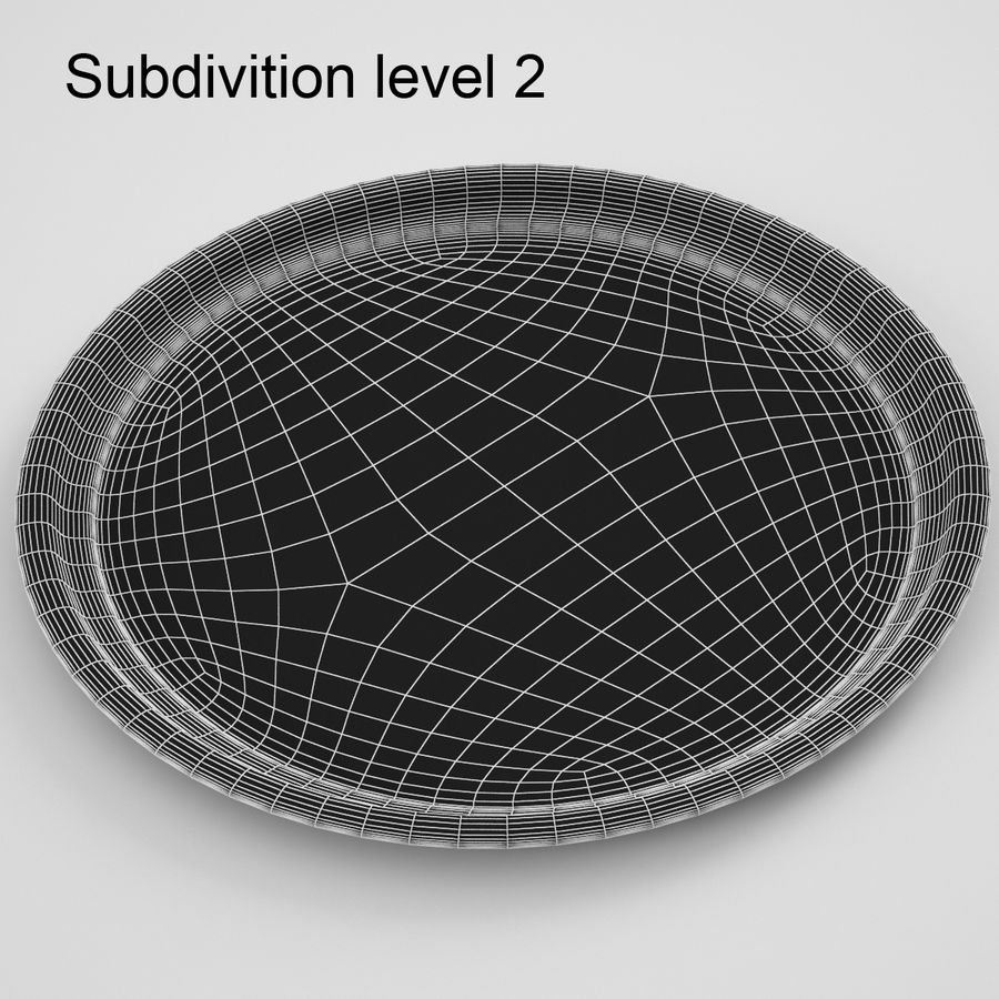 Round Tray royalty-free 3d model - Preview no. 8