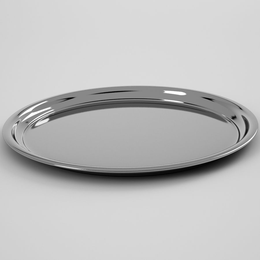 Round Tray royalty-free 3d model - Preview no. 2