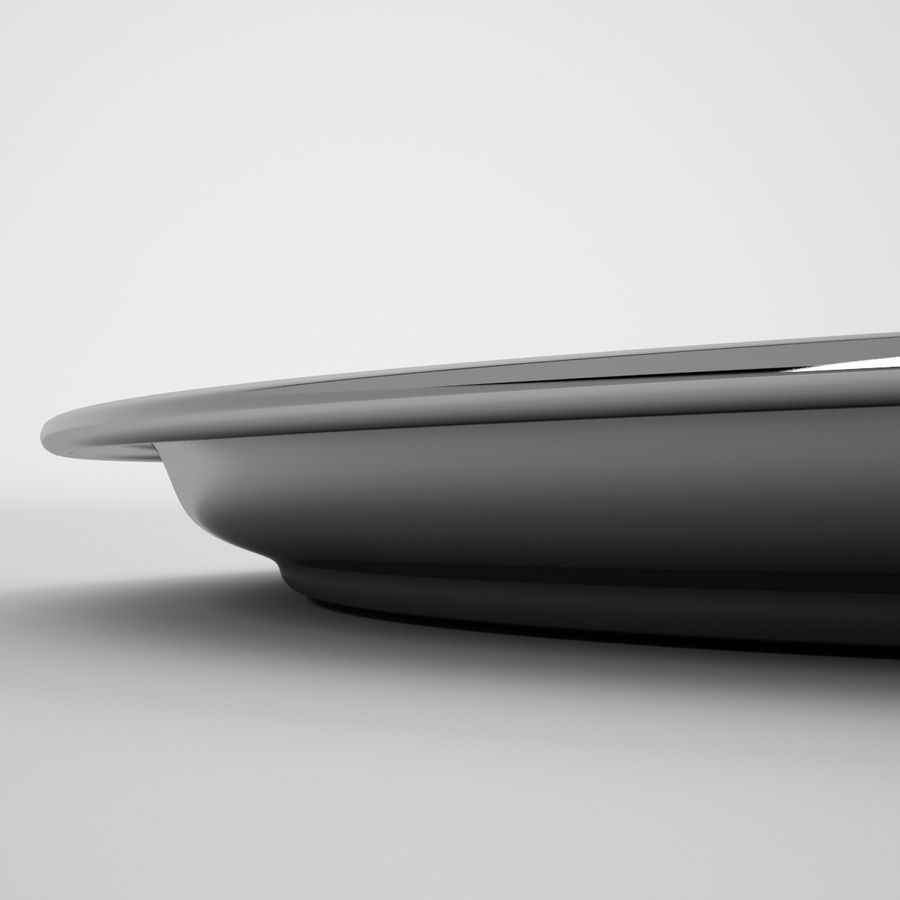 Round Tray royalty-free 3d model - Preview no. 4