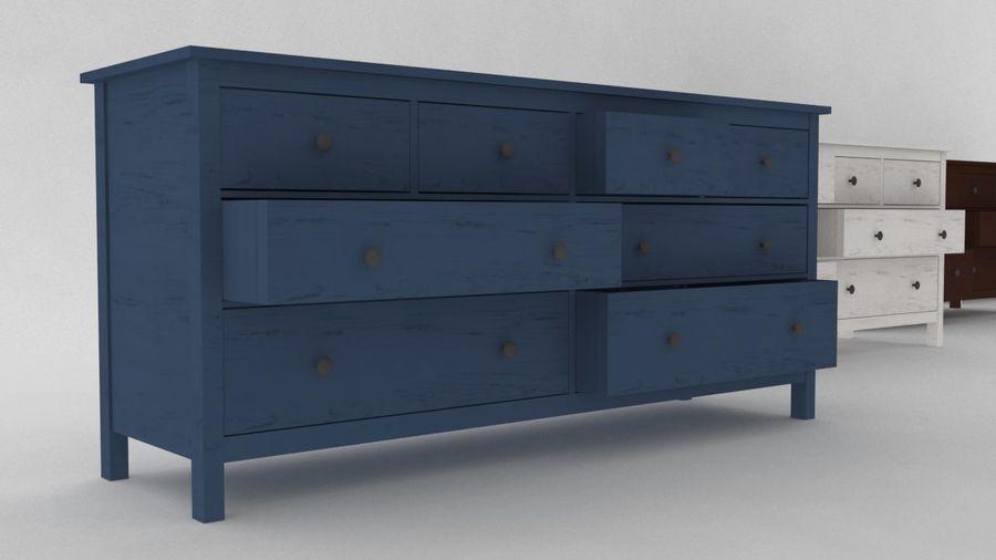 Komoda 8 szuflad IKEA HEMNES royalty-free 3d model - Preview no. 1
