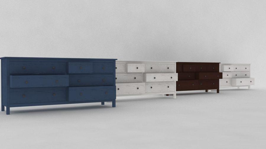 Komoda 8 szuflad IKEA HEMNES royalty-free 3d model - Preview no. 5