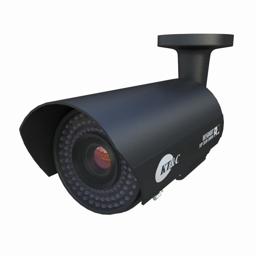 внутренняя камера видеонаблюдения royalty-free 3d model - Preview no. 6