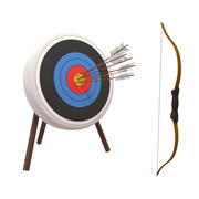 Cartoon Archery / Bow 3d model