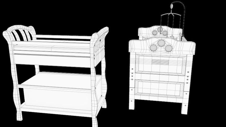 ベビーベッド、テーブルとモバイルセットの交換 royalty-free 3d model - Preview no. 6