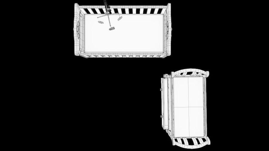 ベビーベッド、テーブルとモバイルセットの交換 royalty-free 3d model - Preview no. 7